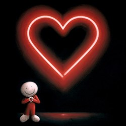 The Message of Love by Doug Hyde - Hand Finished Limited Edition Box Canvas sized 24x24 inches. Available from Whitewall Galleries